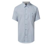 Regular Fit Leinenhemd mit Baumwoll-Anteil