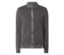 Sweatjacke im Washed Out Look Modell 'Aro'