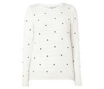 Pullover mit Punkte-Aufnähern