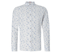 Leinenhemd mit Button-Down-Kragen