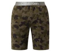 Pyjamashorts mit Camouflage-Muster