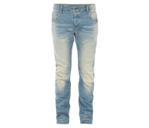 Old Blue Washed 3D Slim Fit Jeans