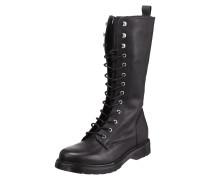 Stiefel aus Leder mit Schnürverschluss