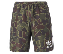 Badeshorts mit Camouflage-Muster