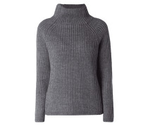 Pullover aus Rippenstrick mit Rollkragen