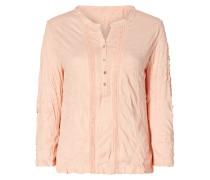 Serafino-Shirt mit Crinkle-Effekt