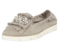 Loafer aus Veloursleder mit Shoe Flaps