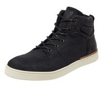 High Top Sneaker aus Leder und Textil