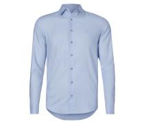 Slim Fit Business-Hemd mit Fischgrat-Dessin