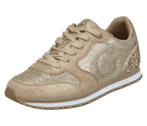 Sneaker mit Effektgarn und Glitter-Effekt