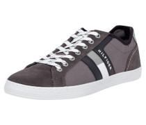 Sneaker aus Canvas mit Lederdetails