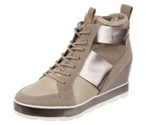 Sneaker Wedges mit Kontrasteinsätzen