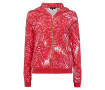Sweatjacke aus Frottee mit All-Over-Muster