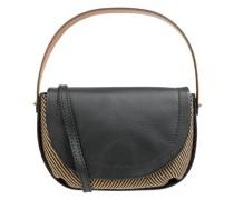 Saddle Bag aus Leder und Textil Modell 'Diana'