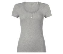 T-Shirt mit Spitzendetails - fein gerippt