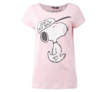 T-Shirt mit Snoopy-Print und Ziersteinbesatz