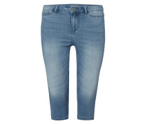 PLUS SIZE - Stone Washed Caprijeans