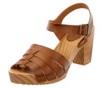 Sandalette aus Leder mit Holzsohle