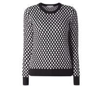 Pullover mit eingearbeitetem Punktemuster