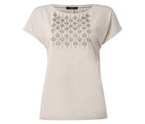 T-Shirt mit Zierperlenbesatz