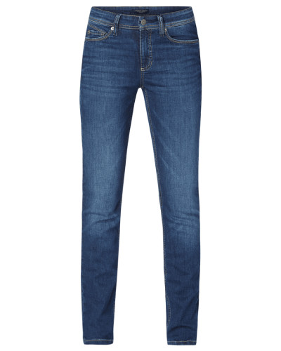 Slim Fit Jeans mit Label-Patch