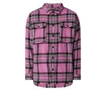 Oversized Flanellhemd aus Baumwollmischung