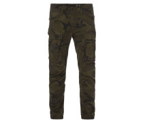 Tapered Fit Cargohose mit Camouflage-Muster