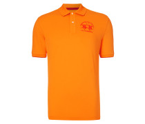 Regular Fit Poloshirt mit Logo-Stickerei