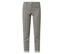 Cropped Stoffhose mit Stretch-Anteil Modell 'Ros'