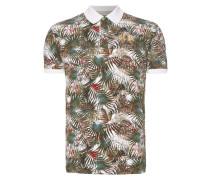 Slim Fit Poloshirt mit exotischem Muster
