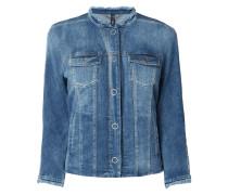 Jeansjacke mit ausgefransten Abschlüssen
