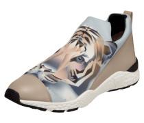 Slip-On Sneaker aus Neopren und Leder