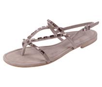 Sandalen mit Ziersteinbesatz aus echtem Leder
