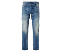 Stone Washed Regular-Tapered Fit Jeans