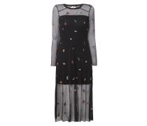 Kleid aus Mesh mit Stickereien