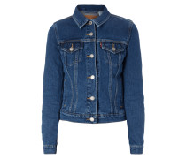 One Washed Jeansjacke mit Stretch-Anteil