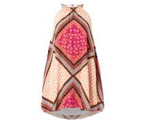 Neckholder-Kleid mit Allover-Muster