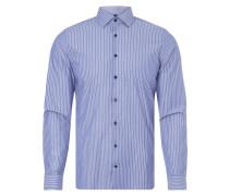 Slim Fit Business-Hemd mit Streifenmuster