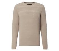Pullover mit aufgesetzter Brusttasche