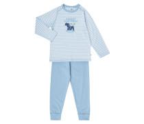 Pyjama mit Bären-Print und Message