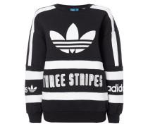 Sweatshirt mit Logo-Prints und Zierstreifen