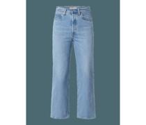 High Waist Straight Fit Jeans mit Lyocell-Anteil