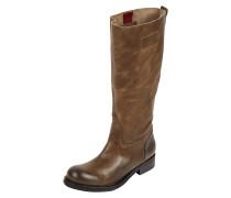 Stiefel aus Leder mit Profilsohle