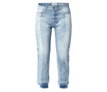 Fitted Bleached 5-Pocket-Jeans