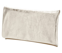 Clutch aus Rindsleder in Metallicoptik