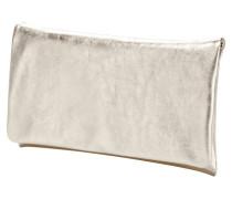 Clutch aus Rindsleder in Metallicoptik