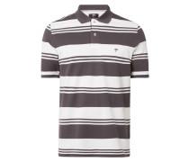 Casual Fit Poloshirt mit Streifenmuster