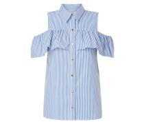 Off Shoulder Bluse mit Streifenmuster