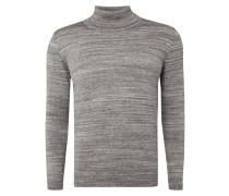 Rollkragen-Pullover in Melangeoptik
