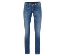 Stone Washed Boot Cut 5-Pocket-Jeans